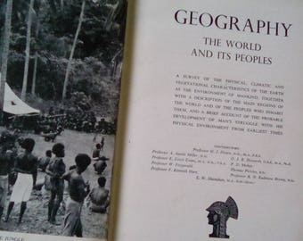 Geography, the world and its peoples, vintage hardback book