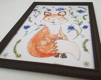 Foxy - Fox - Woodland - Decor - Nursery - Playroom - Illustration