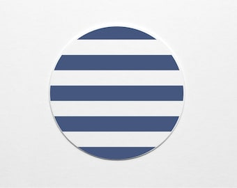 Letterpress Navy Stripes Coaster