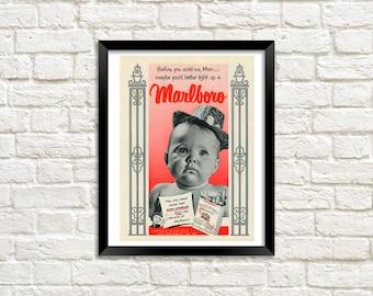 Art Print - Marlboro vintage ad
