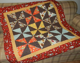 Handmade quilt, throw, toddler quilt, wall hanging, Dog quilt, Baby quilt, Boy Quilt, Girl quilt