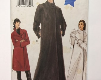Vogue 9953 Coat Pattern - Sew a  Loose Fitting A Line coat- Plus Sizes - 16- 20