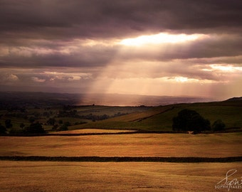 Landscape photography, landscape print, countryside, nature photography, dusk, framed art, fine art photography, framed print, mounted print