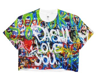 John Lennon Graffiti Crop Top