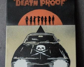 Death Proof 11x14 Canvas, Spray Paint Art