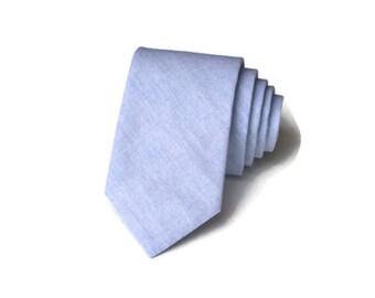 Blue Chambray Necktie~Anniversary Gift~Wedding Tie~Boys Necktie~Mens Necktie~Wedding~Mens Tie~Boys Tie~Chambray Tie