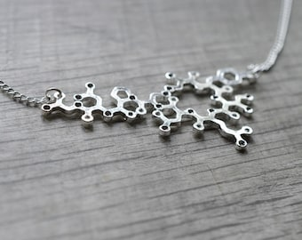 Biolojewelry - Oxytocin Molecule Statement Necklace