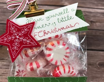 Christmas Gift Bag - Mini 3x6 Gusset Christmas Goodie Bag Class Kit