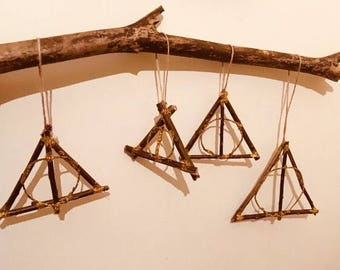 Harry Potter Deathly Hallow Natural Willow twig hanging decor.