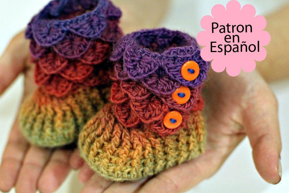 Lujo Patrón Botines Niño Crochet Colección - Manta de Tejer Patrón ...