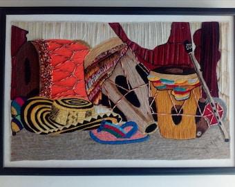 Colombian style woven art