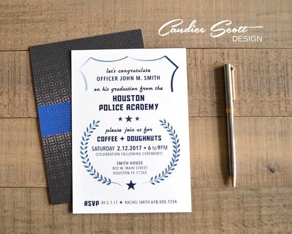 police academy graduation invitation