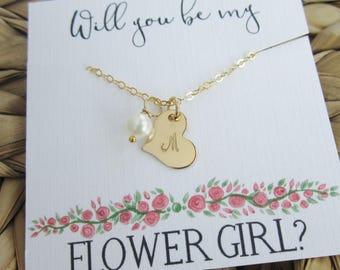 Blumenmädchen Vorschlag Blumenmädchen Halskette personalisierte erste Goldkette blumenmädchengeschenk Süßwasser Perlenkette Hochzeitsschmuck
