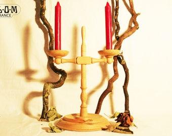 Chandelier en bois de Hêtre