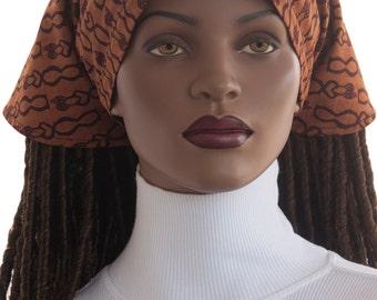 African Print Dread Scarf Cotton Tie Back Scarf for Full Dread Locks Long Braids Twists Chemo Scarf Tichel Scarf Handmade