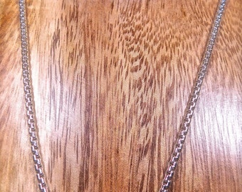 ARGENTIUM Sterling 935 Silver Rounded BOX CHAIN 20 Inches 2.6 Millimeters Argentium Pendant Chain Necklace Chain