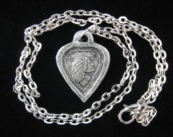 St. Dymphna, Overcoming Anxiety and Worry, Handmade Necklace