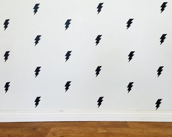 Lightening Bolt Wall Decals - Removable vinyl wall decals/stickers