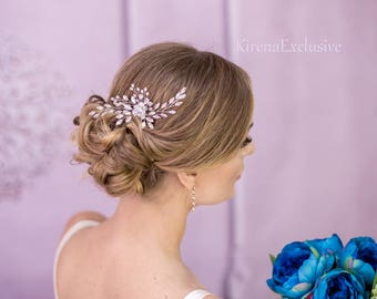 Crystal bridal hair pins Bridal hair comb Silver hair pin Bridal bobby pins Wedding bobby pins Wedding hair accessory Pearl hair pins