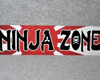 Metal Sign NINJA ZONE martial arts shinobi Japanese warrior ninjutsu combat mercenary covert agent Japan wall plaque