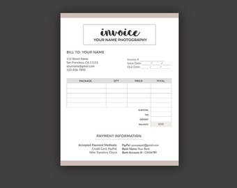 The Nelson Invoice Template Receipt MS Word - Photographer invoice template free apple store online