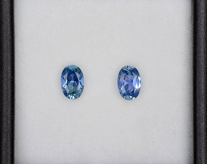 Gorgeous Blue Sapphire Gemstone Match Set from Montana 1.06 tcw.