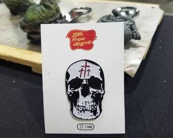 2 inch enamel corpse maker pin