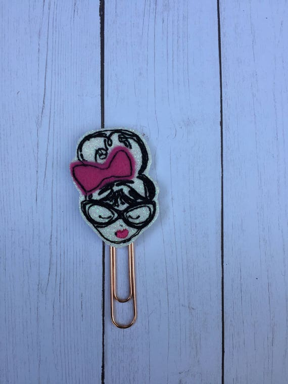 Fashion Girl With Bow & Glasses Planner Clip/Planner Clip/Bookmark. Washi Girl Planner Clip. Fashion Girl Planner Clip. Planner Girl