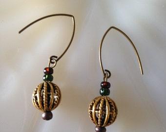 Small Spherical Basket Earrings