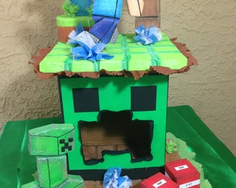 Centerpiece Minecraft. Dispenser candys Minecraft. Party Decorations and Supplies