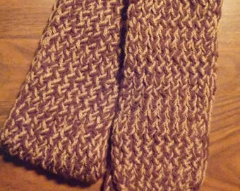 Loom Knit Scarf with Fringe ~~ Handmade Knit Warm Winter Accessory Accessories Adult Teen ~~