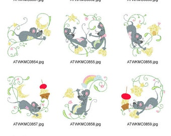 Cute-Mouse-and-Cheese ( 10 Machine Embroidery Designs from ATW )