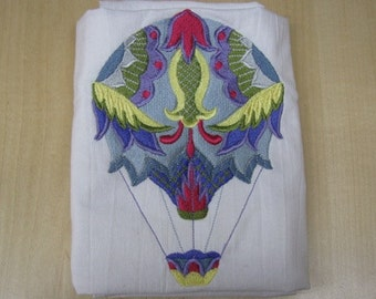 Jacobean Hot Air Balloon Towel - DISCOUNTED FOR FLAW