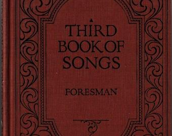 Third Book of Songs + Robert Foresman + 1925 + Vintage Music Book