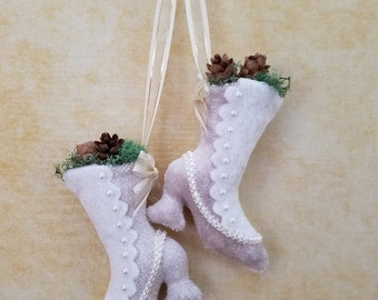 Nine Ladies Dancing - Victorian Boot - 12 Days of Christmas Ornament