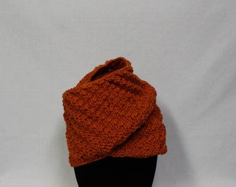 Beautiful Bias Cowl knitting PATTERN - warm bulky bias knit cowl - permission to sell finished items