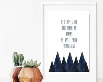 Let Him Sleep // Nursery // Art Print