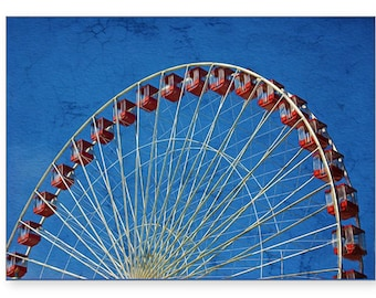 Chicago Navy Pier, Handmade Card, Photo Greeting Card, Ferris Wheel, Photo Note Card, All Occasion Card, 5x7 Blank Card, Fine Art Print