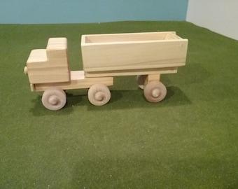 Wood Dump Truck Tractor Trailer - Tilts