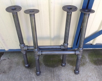 Metal Industrial Pipe End Table or Night Stand or Sink Base LEGS ONLY Solid Urban Loft