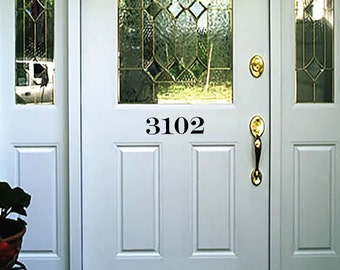 House Number Sticker, Any Color, Number Decal, FAST SHIPPING