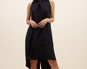 Black Dress. Minimalist Clothing, Oversized Dress, Loose Dress, Tie Dress, Bow Dress Office Dress, Black Dress, Summer Dresses f...