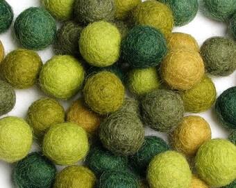 Collection - 60PC Piece EVERGREEN Felt Balls