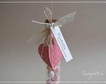 Tag Heart for Wedding favors-First communion girl-decoration Party