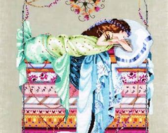 Mirabilia Nora Corbett - Cross Stitch Chart Pattern ~ SLEEPING PRINCESS - #123