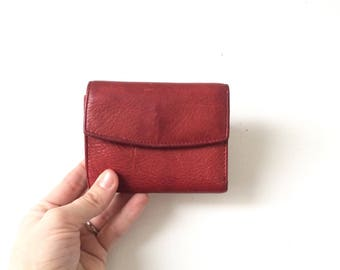 Small Vintage Red Leather Rolfs Wallet