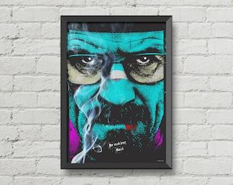 Breaking bad poster,heisenberg,pop art,digital print,print,tv series,Walter White,Jesse Pinkman
