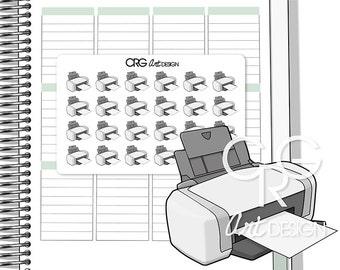 Printer Stickers  | Planner Erin Condren Plum Planner Filofax Sticker