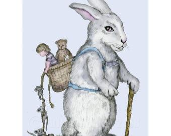 Bunny Express Print