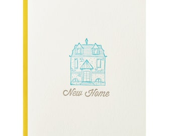 New Home Letterpress Greeting Card